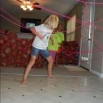Avoiding laser beams!