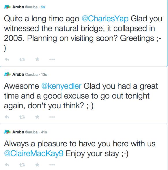 Freelance Travel Copywriter follows Aruba