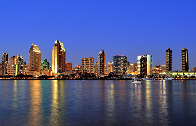 San Diego at Dusk. Photo credit: John Bahu
